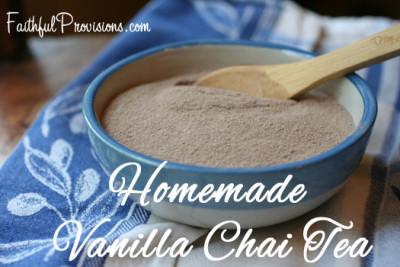 Homemade-Vanilla Chai-Tea
