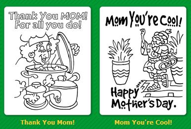 Free Coloring Pages For Mothers Day Faithful Provisions