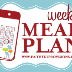 Weekly Meal Plan for September 23, 2012