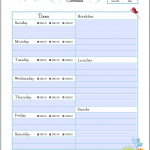 FREE Meal Planning Templates – Over 20 to Choose From!