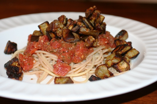 Roasted Eggplant Pasta - Faithful Provisions