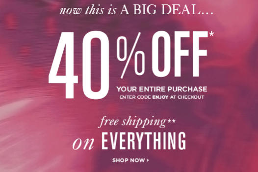 Discount coupons for ann taylor loft