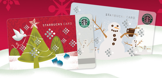 Free starbucks christmas gift card