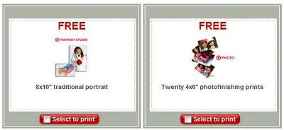 Target portrait coupons