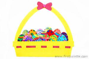 Creative Paper Eggs Basket Craft