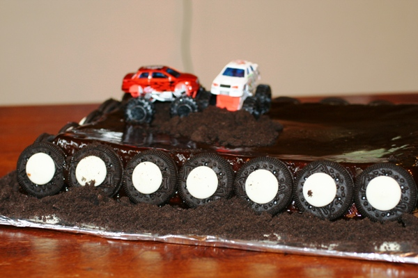 Marvelous Monster Truck Cake Recipe Faithful Provisions Funny Birthday Cards Online Elaedamsfinfo