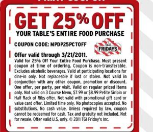 Tgi fridays coupon code