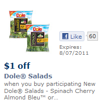 Dole Salad Printable Coupon