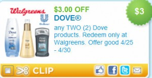 Dove Body Wash Deal at Walgreen's (just .50!)