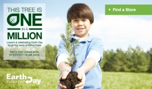 Free Tree at Lowes on Earth Day