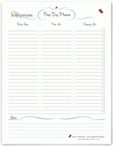 Free Prep Day Planner Download - Faithful Provisions