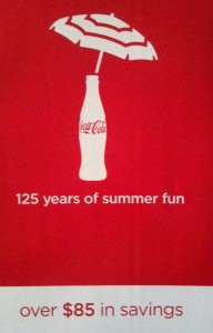 125 Years of Summer Fun Coca Cola COupon Booklet
