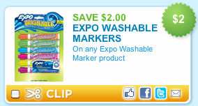 Expo Markers Printable Coupon