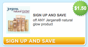 Jergens Natural Glow Coupon Makes it $.47 at Target