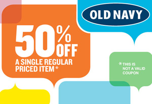 Old Navy 50% off Coupon Download on Oprah