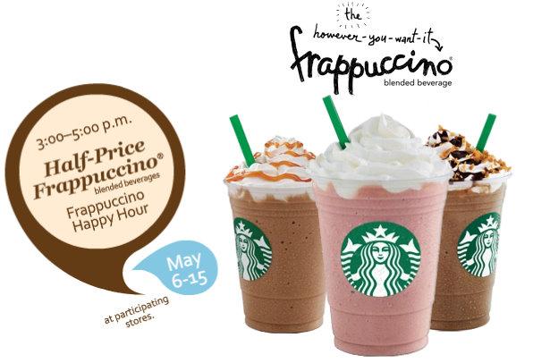 Starbucks Half Price Frappuccinos