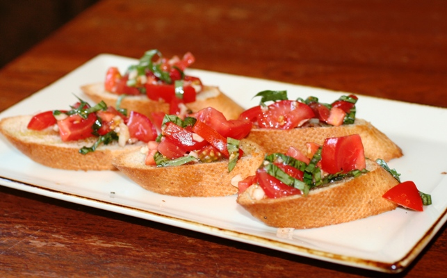 Tomato and Basil Bruschetta - Faithful Provisions
