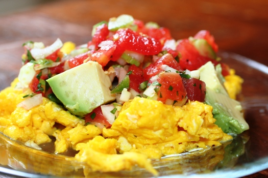 Guacamole Omelette With Salsa Recipes — Dishmaps
