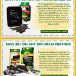 Crayola Back to School Printable Coupons