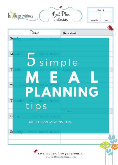 Easy Meal Planning Tips2