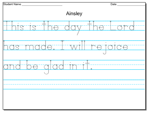 FREE Customizable Handwriting Worksheets - Faithful Provisions