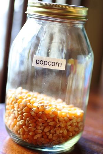 Homemade Popcorn-kernels