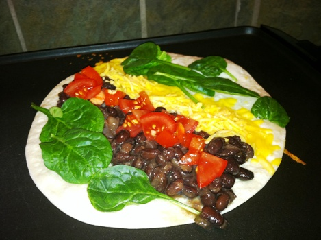 Spinach-and-Black-Bean-Wrap-Ingredients