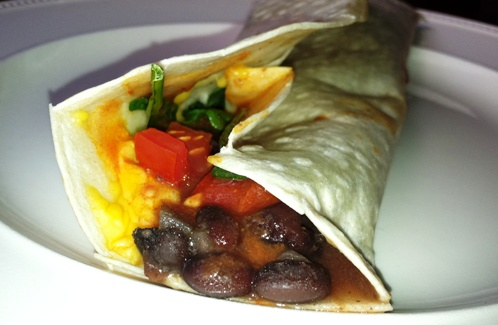 Spinach-and-Black-Bean-Wrap