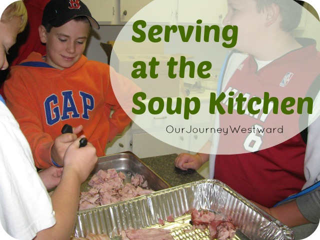 Serving at the Soup Kitchen