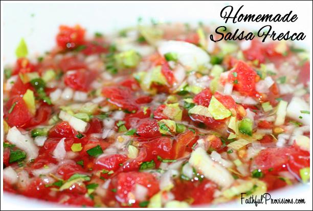 Homeade Salsa Fresca