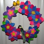 Mother's Day Gifts to Make at Home: Spring Flowers Door Wreath