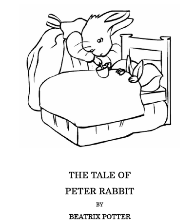 Easter Kids Craft Ideas: Peter Rabbit Coloring Pages - Faithful ...