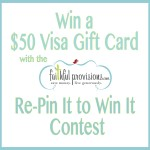 Winner: $50 Visa Gift Card Mother's Day Giveaway