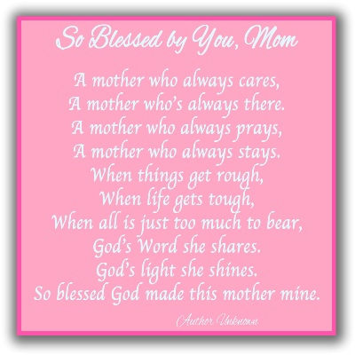 Short Mother's Day Poems - Faithful Provisions