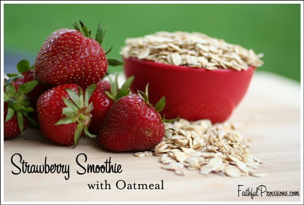 Recipe for Strawberry Smoothie with Oatmeal