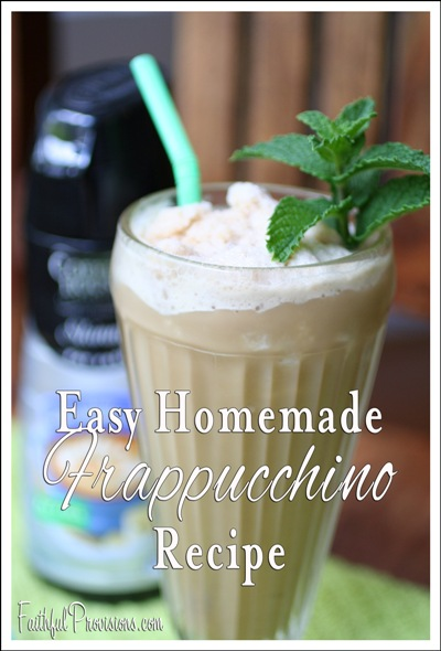 Easy Homemade Frappucchino Recipe