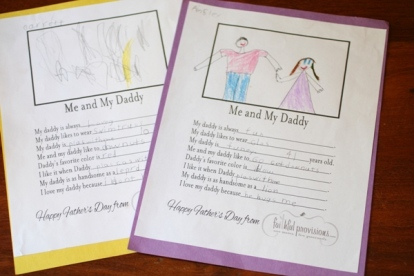 Kids' Homemade Father's Day Cards