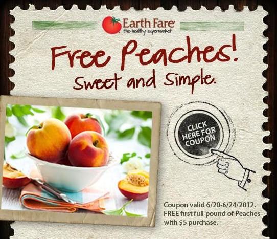 Free Peaches at Earth Fare