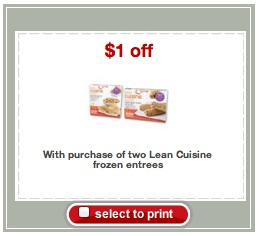 Target Printable Coupon for Lean Cuisine