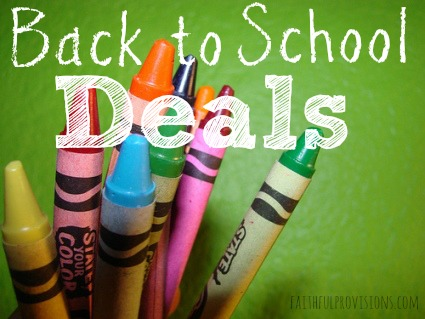 Back to School Deals | Faithful Provisions
