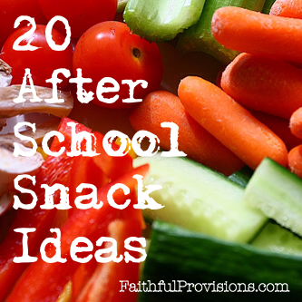 20 After School Snacks from FaithfulProvisions.com