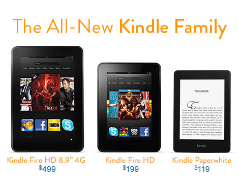 Kindles on Amazon