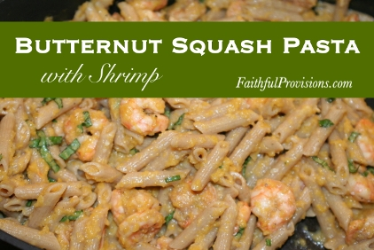 Butternut Squash Pasta with Shrimp