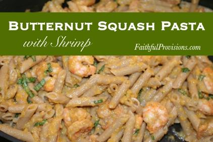 Butternut Squash Pasta with Shrimp