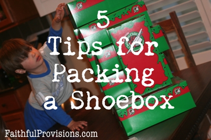 Christmas Box Ideas - 5 Tips for Packing a Shoebox