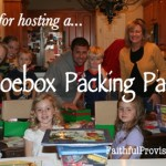 Plan a Christmas Shoebox Packing Party