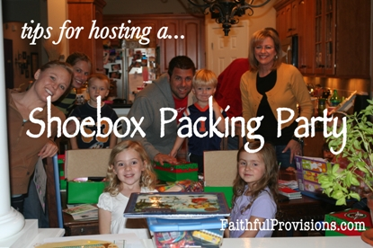 Christmas Shoebox Project Packing Party