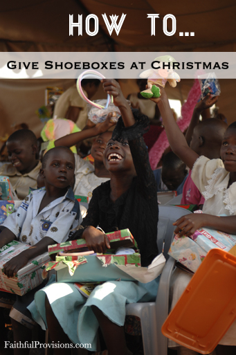 Giving Shoeboxes for Christmas through Operation Christmas Child