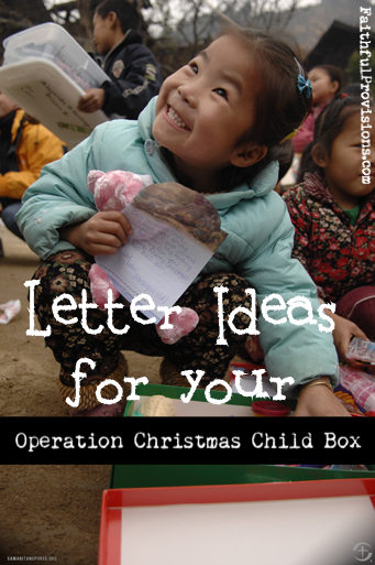 Letters for Your Operation Christmas Child Shoebox - Faithful ...