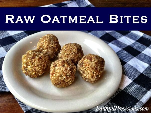 Raw Oatmeal Bites | Easy Raw Cookie Recipe
